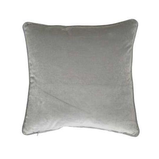 Luxury Cotton Velvet Cushion in Silver Grey