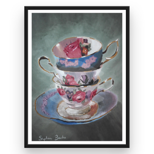 Three Teacups | Original Prints on Fine Art Paper