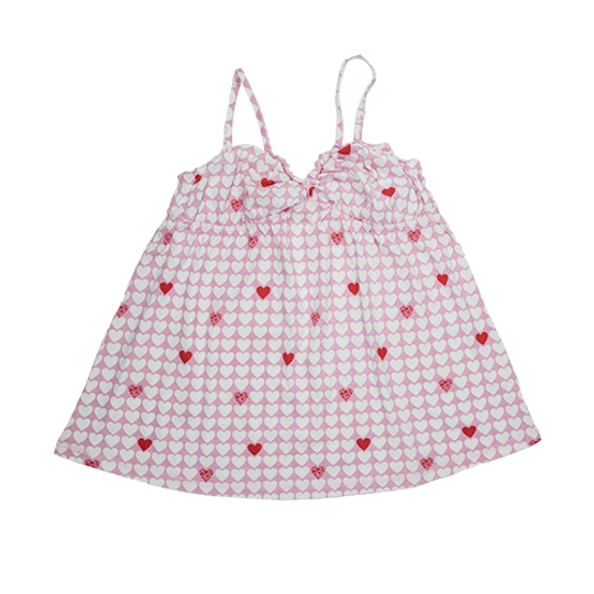 Ladies Strappy - Frill Hearts