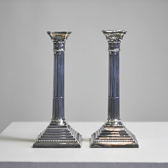 Pair of English Candlesticks