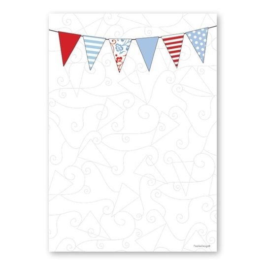 A6 Notebook - Red & Blue Bunting