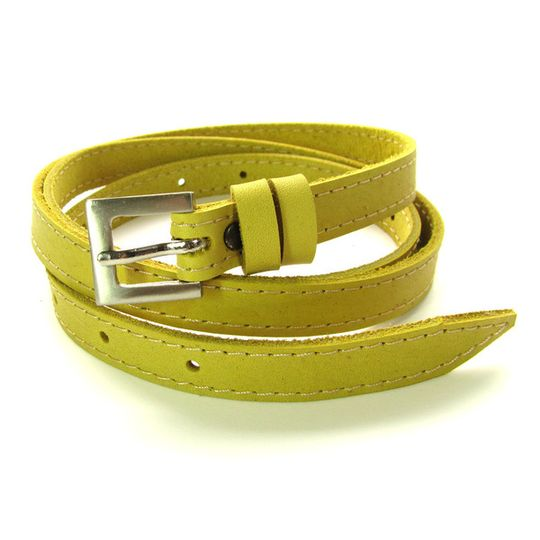Skinny Belt - Lemon
