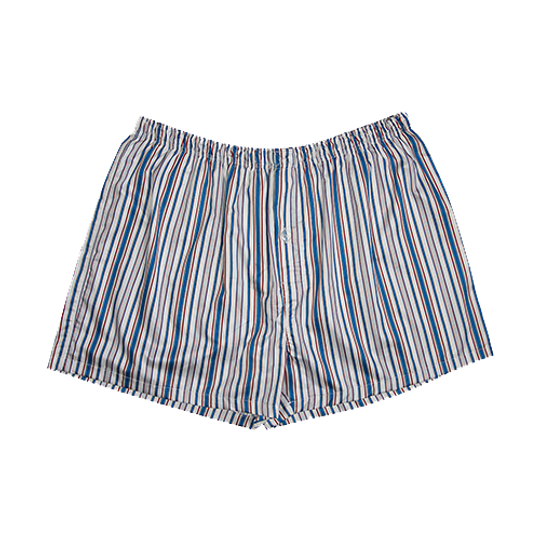 Mens Boxer Shorts Blue Stripe