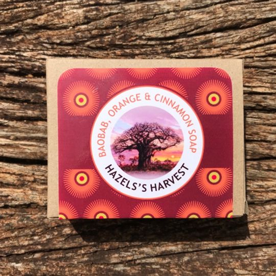 Baobab, Orange & Cinnamon Natural Vegetable Soap (120g bar)