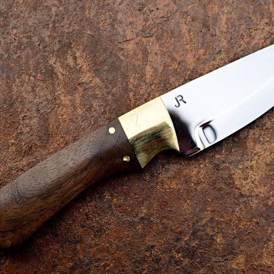 Handmade Custom Knife | Stainless Steel & Walnut