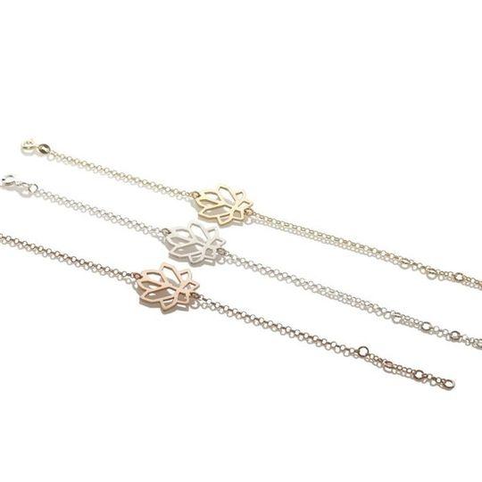 Lotus Crystal Cluster Bracelet