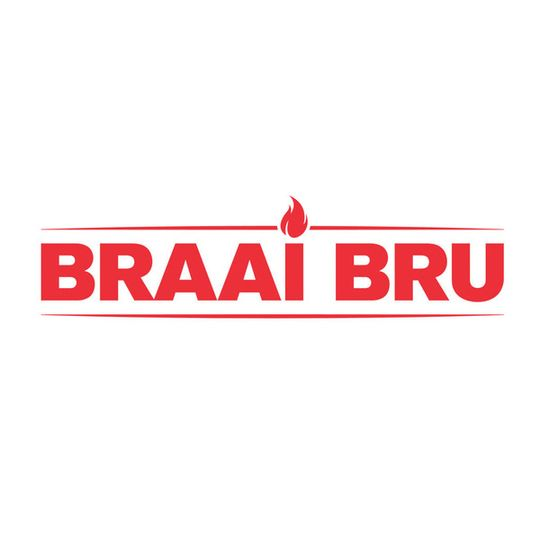 'Braai Bru' Sticker Red