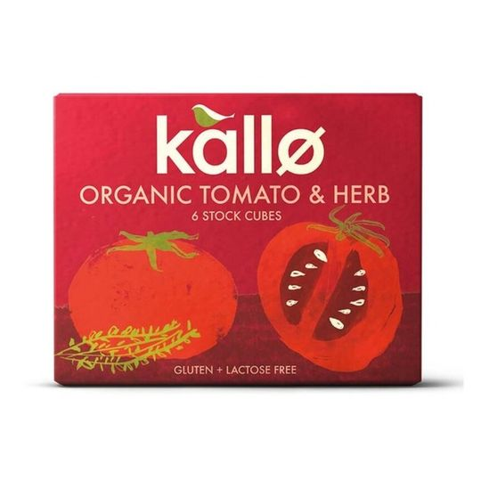 Kallo Organic Tomato & Herb Stock Cubes (66g)