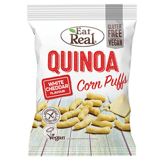 Eat Real Quinoa Corn Puffs White Cheddar 40g