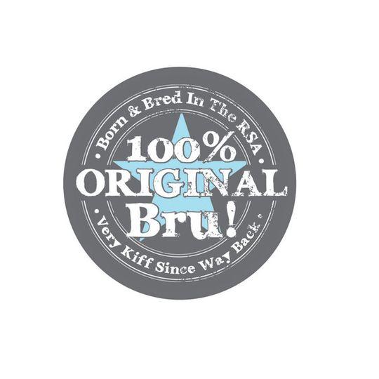 '100% Original Bru' Sticker