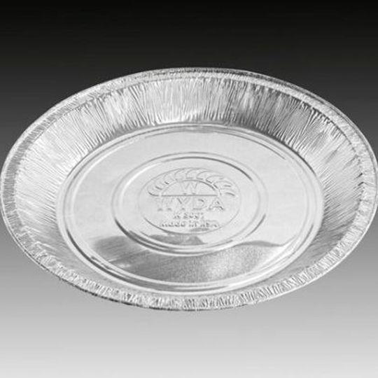 W3001 - Light-duty or heavy duty , medium sized milk-tart aluminium foil dish with 400ml capacit