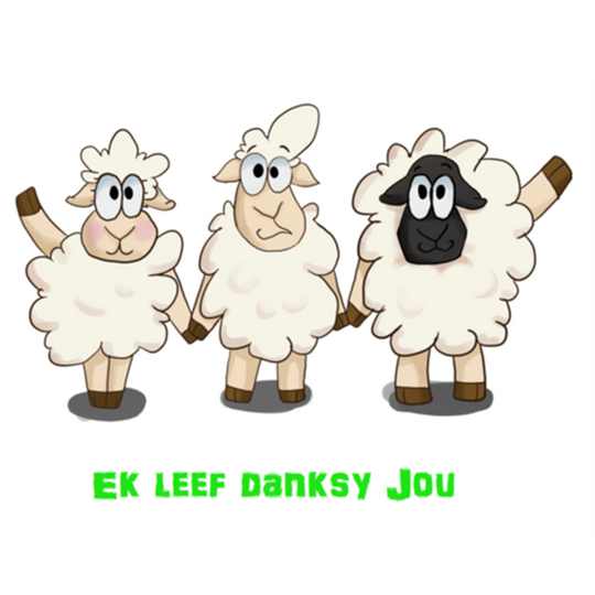 ADULTS Ek Leef Danksy Jou Shirt (Shortsleeve)