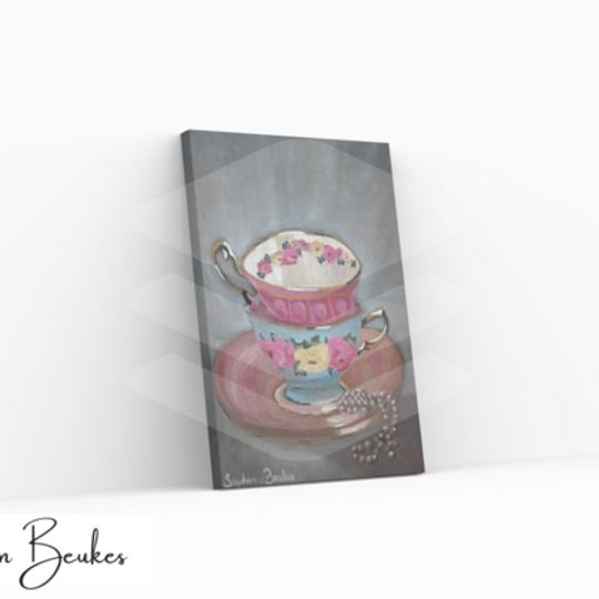 Two Teacups | Original Prints on Canvas