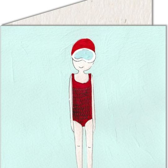 Greeting Card | Girl in Swimsuit
