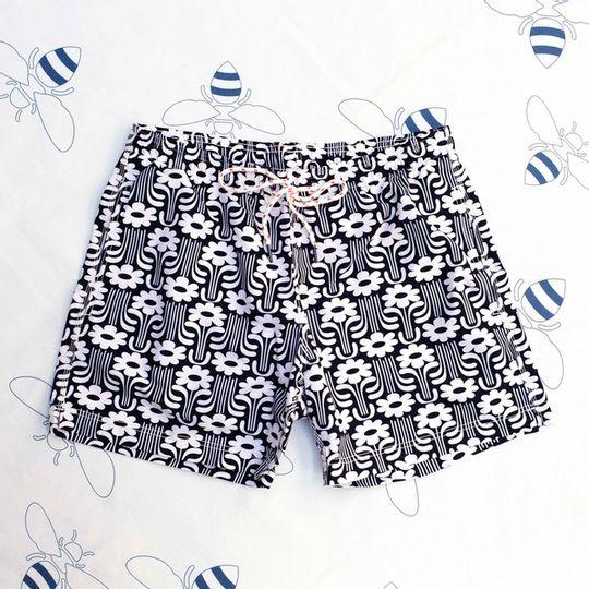 Flower Power Black Shorts