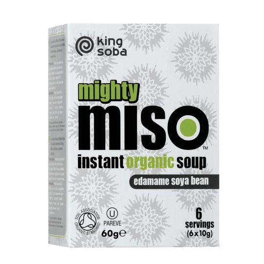 King Soba Organic Edamame Soya Bean Miso Soup (60g)