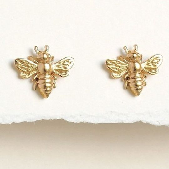 Gold plated Bee studs