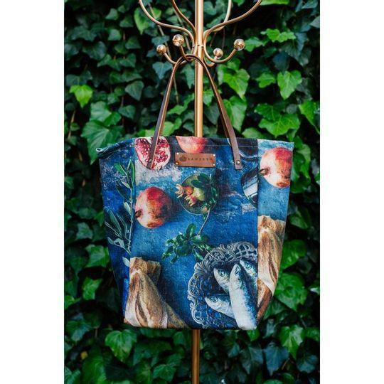 Shopper Tote - Fish & Pomegranate