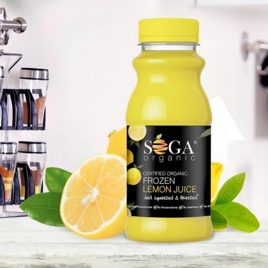 SOGA Organic Frozen Lemon Juice (250ml)