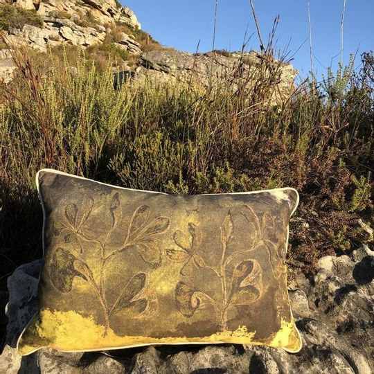 Vintage Leaves Cushion Cover (Printed)