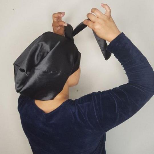 Satin Bonnet with Straps