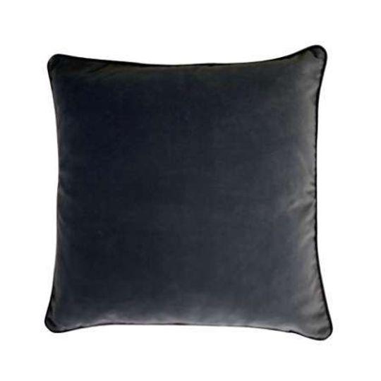 Luxury Cotton Velvet Cushion in Charcoal