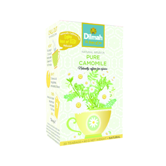 Dilmah Natural Infusion Pure Camomile Flowers (20 x 2g tagged tea bags)
