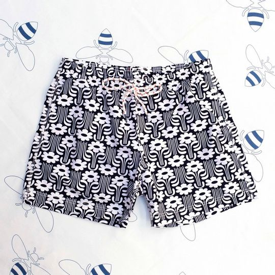 Flower Power Black Shorts