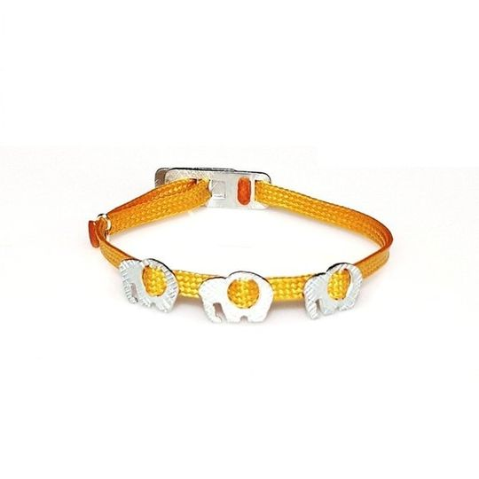 ZESTY Waxed Ribbon Bracelet Elephant - Gold