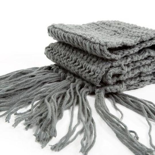 Winter Scarves / Unisex - Graphite - M0093