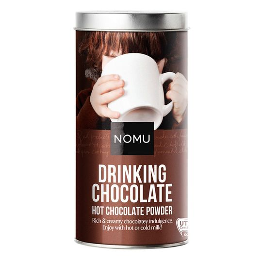 NOMU Drinking Hot Chocolate