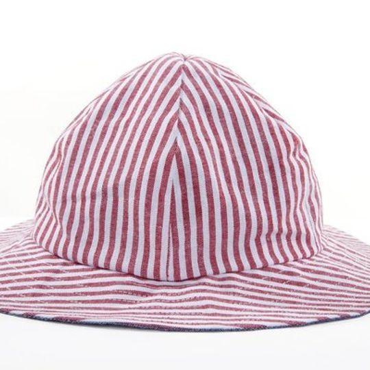 Hat / Unisex - Nautical Stripe and Denim - M0035