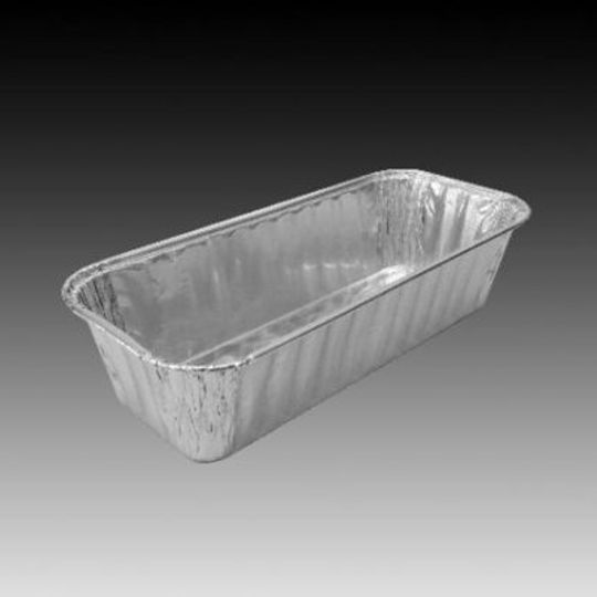 W4191- Small aluminium foil loaf pan with 550ml capacity.