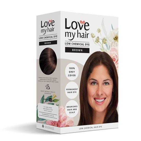Love My Hair Low Chemical Dye - Brown