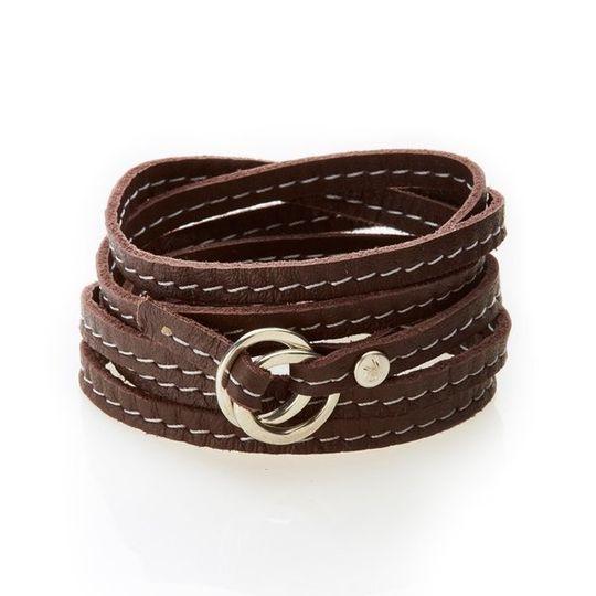 REBEL Versatile leather wrap Dark Brown