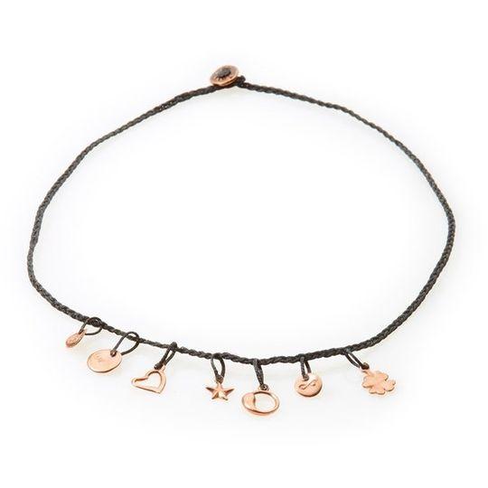 FANCY Braided Necklace & Choker Luck - Black