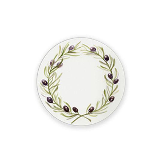24 Coasters - Olive Wreath