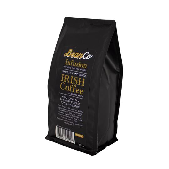BeanCo Whiskey Infused Irish Coffee Ground (250g)