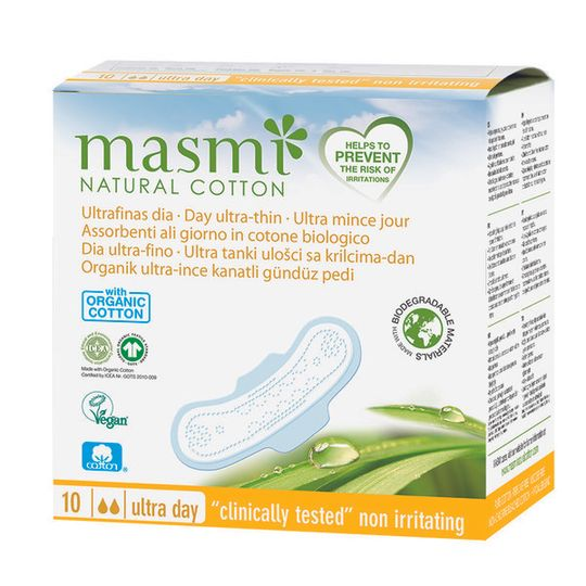 Masmi Organic Cotton Ultrathin Pads Day 10s
