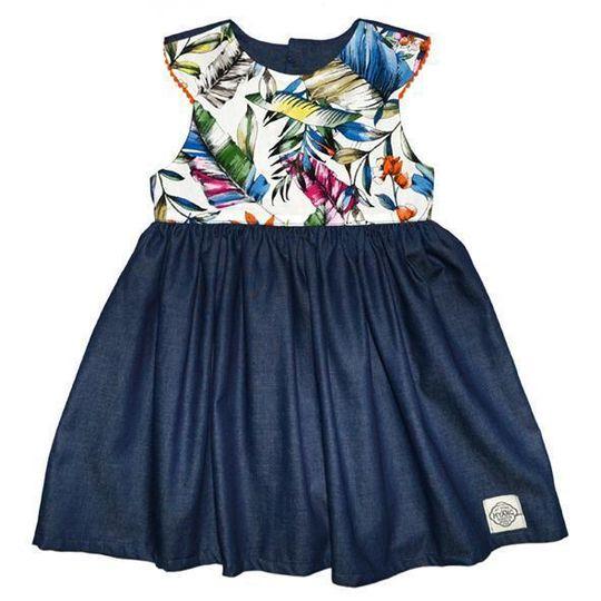 Dress / Girls - Denim and Tropics - M0379