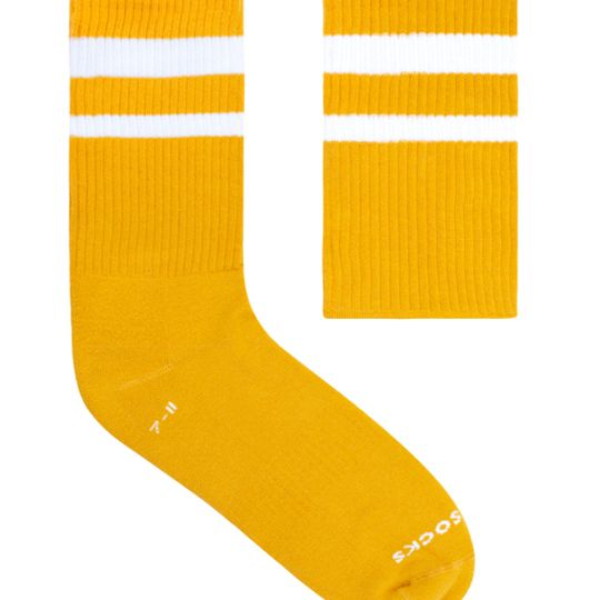 Ribbed Active Banded in Hot Mustard