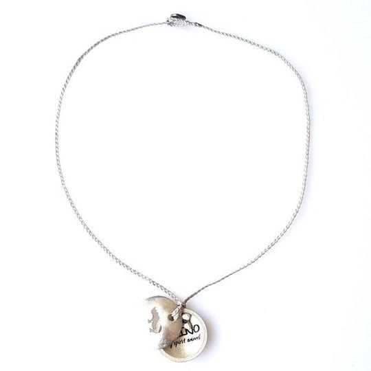 FOXY Braided Necklace & Choker Rhino - Pale Grey