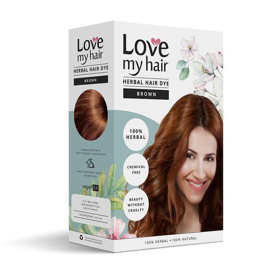 Love My Hair Brown Herbal Dye