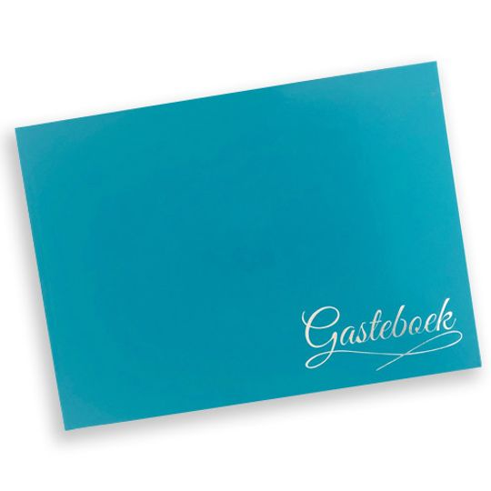 Guest Book - sea blue Afrikaans