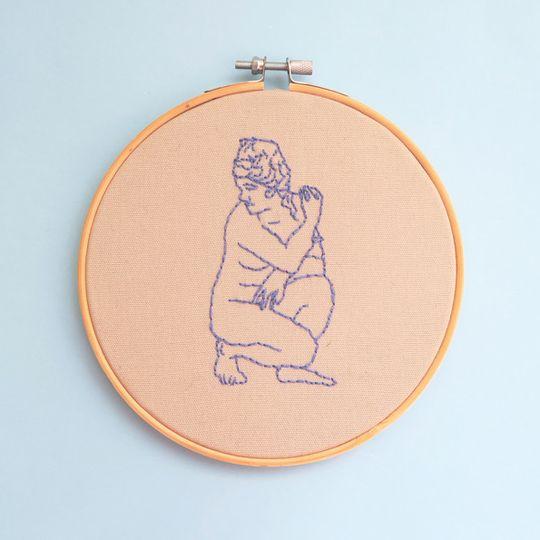"""DIY Embroidery Kit - 'Goddess' (6"""")"""