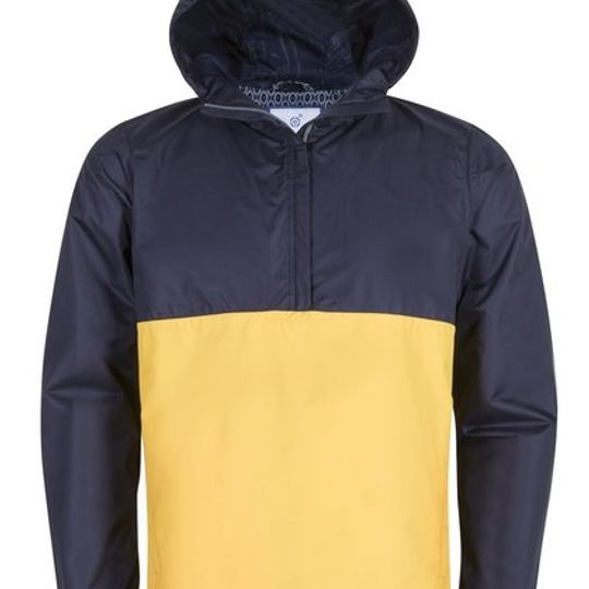 Mens Two Tone Navy & Yellow Rain Jacket