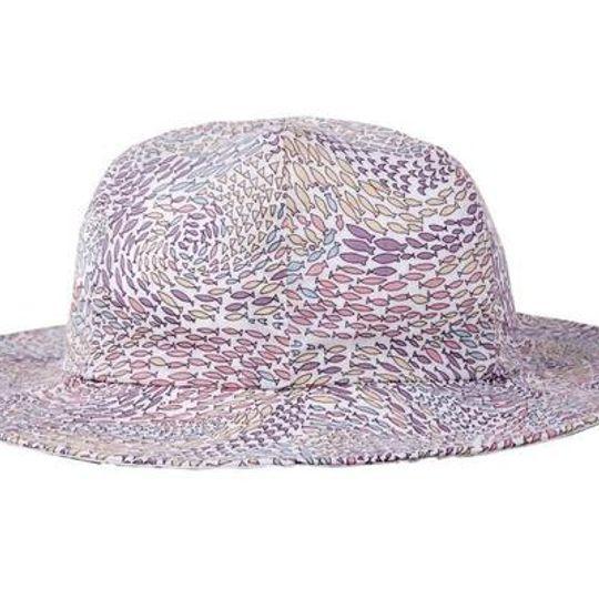 Hat / Girls - Pink Fish Swirl - M0313