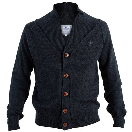 BUTTON UP GRAY JERSEY