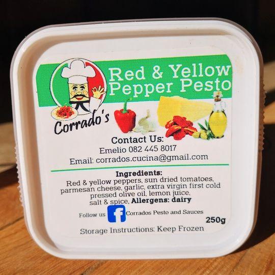 Corrado's Pesto & Sauces Red & Yellow Pepper Pesto (250g)