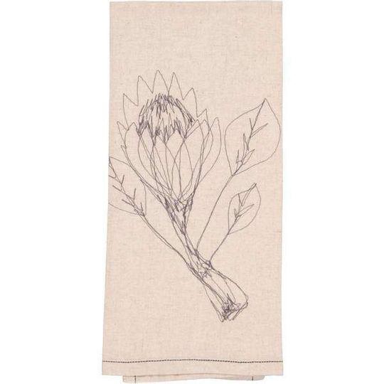 Hemp Protea Tea Towel / Hand Towel